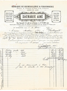 FACTURE + TRAITE QUINCAILLERIE ET FERRONNERIE à SAINT ETIENNE (LOIRE) 1877 - 1800 – 1899