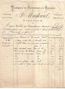 FACTURE + TRAITE MARTOURET FABRICANTS SERRURES ET BOULONS(LOIRE) 1888 - 1800 – 1899