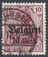 Belgio - 1916 F.llo Di Germania S/s 10c Su 10p  In Cent. # Michel 14 - Scott N14 - Yvert 14 - Usato - Besetzungen 1914-18