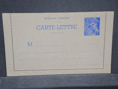 FRANCE - Carte Lettre Type Mercure Non Voyagé - L 6739 - Postal Stamped Stationery