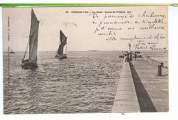 CPA-50-1904-CHERBOURG-LA RADE-SORTIE DE VOILIERS-ANIMEE- - Cherbourg