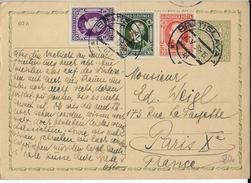 1939 - MIXTE SLOVAQUIE / TCHECOSLOVAQUIE Sur CARTE ENTIER POSTAL De BRATISLAVA => PARIS - Covers & Documents
