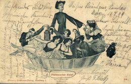 1899  VERY RARE CARD   ITALIENISCHER SALAT  1899    .... ANTI CLERICAL  ANTI CATHOLIC - Sátiras