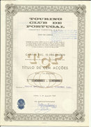 Portugal Action 2 Titres 100 Et 10 Actions 1968 Touring Club Tourisme 2 Stock Certificate Touring Club Tourism - Tourisme