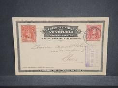 VENEZUELA - Entier Postal De Caracas + Complément Pour Paris En 1910 - L 6756 - Venezuela