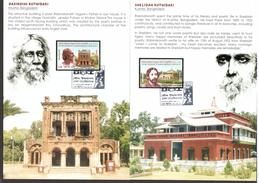 Bangladesh 2011 Rabindranath Tagore Of India Nobel Prize Presentation Pack # 10244 - Prix Nobel