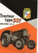 Société Francaise Vierzon (SFV) Type 551 Semi-Diesel 60ch  -    Tracteur  Agricole  -  CPM - Tracteurs