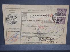 ALLEMAGNE - Colis Postal De Berlin Pour La France En 1926 - L 6766 - Briefe U. Dokumente