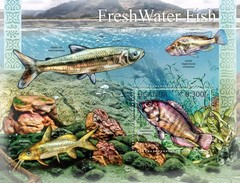 UGANDA 2012 SHEET FRESH WATER FISHES PECES POISSONS MARINE LIFE Ugn12105b - Uganda (1962-...)