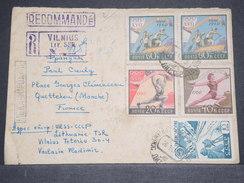 U.R.S.S. - Enveloppe En Recommandé De Vilnius Pour La France En 1961 , Affranchissement Jeux Olympiques - L 6775 - 1923-1991 USSR
