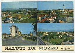 Saluti Da Mozzo (Bergamo) - Vedutine - Viaggiata 1972 (timbro Di Curno) - Bergamo