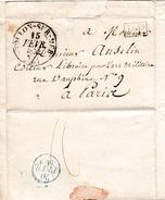 15 Février 1832 - PLACE De TOULON (83) HÔPITAL MILITAIRE - à M. ANSELIN Libraire Pour L'Art Militaire - Historical Documents