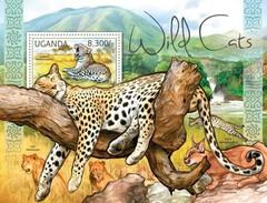 UGANDA 2012 SHEET WILD CATS FELINS FELINES FELINOS FELINI RAUBKATZEN WILDLIFE Ugn12110b - Ouganda (1962-...)