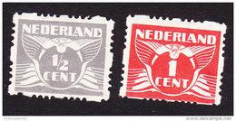 Netherlands, Scott #164a, 165a, Mint Hinged, Gull, Issued 1928 - Period 1891-1948 (Wilhelmina)