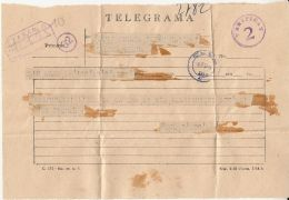 CENSORED!TELEGRAMME SENT FROM ARAD TO CLUJ NAPOCA, 1957, ROMANIA - Télégraphes