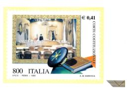 [MD0932] CPM - LE ISTITUZIONI - CORTE COSTITUZIONALE - ITALIA - Non Viaggiata 1999 - Francobolli (rappresentazioni)