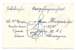 CPA.  PRISONNIER DE GUERRE 1940...ENVOI DE CARTE A UN PRISONNIER  STALAG III AL..TBE.  SCAN - Marcophilie (Lettres)