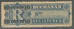 Sello Local Registered, Certificado BUCHANAN 10 Ctvos * - Locals & Carriers