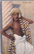 CPA  NU ETHNIQUE PHOTO Lehner & Landrock  Colorisée  Jeune Garçon ARABE Fleurs Et Turban - Afrique Du Nord (Maghreb)