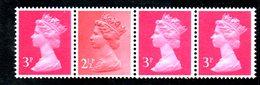 BIN8a - GRAN BRETAGNA , Coil Strip *** - 1952-.... (Elisabetta II)