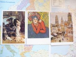 3 Peintures Picasso / Pissarro / Courbet 3 Cartes Postales - Pintura & Cuadros