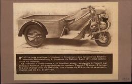 MOTO - TRIPORTEUR - Publicité Issue D'une Revue De 1951 Et Collée Sur Feuillet - Publicités