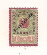 1 Austria Revenue Republik - 1 Krone - Ungebraucht - Fiscaux