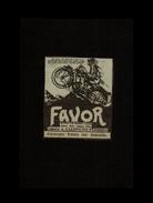 MOTO - Publicité Issue D'une Revue De 1929 Et Collée Sur Carton - Moto Favor - Publicités