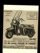 SCOOTER - Publicité Issue D'une Revue Et Collée Sur Carton - - Publicités