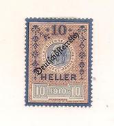 1 Austria Revenue Republik - 10 Heller - Ungebraucht - Fiscales