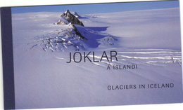 Islande 2002 . 5 Timbres Dans Carnet Glaciers . 6 Pages Illustrées , Texte Islandais Et Anglais . - Libretti