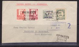 España 1938. Canarias. Carta De Las Palmas A Prisdorf. Censura. - Marcas De Censura Nacional