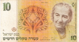 ISRAEL   10 New Sheqalim   1987   Sign.7   P. 53b - Israel
