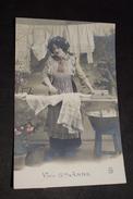 Vives Sainte Anne Ménage Repassage Repasser Dentelle Seau Bassine N° 243 Envoyer Elouges 1911 + Timbre (1) - Women