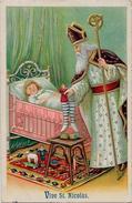 CPA Saint Nicolas  Nicolaas Sinterklaas Nicolo Embossed Gaufré Circulé - Saint-Nicholas Day