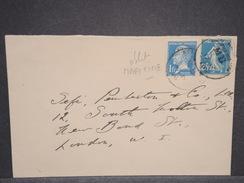 FRANCE - Oblitération Maritime De Southampton Sur Type Pasteur En 1926  Sur Enveloppe Pour Londres - L 6803 - Marcophilie (Lettres)