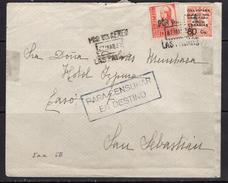 España 1937. Canarias. Carta De Las Palmas A San Sebastian. Censura. - Marcas De Censura Nacional