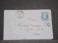 FRANCE - Lettre De Compiègne Pour Paris En 1859 , Cachet OR , Affranchissement Napoléon - L 6808 - Poststempel (Briefe)