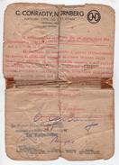 ^ PRIGIONE FASCISMO PASSALIA PRIGIONIERO GALLICO CONRADTY NURNBERG ROTHEMBACH REGGIO CALABRIA TIMBRO BOLLO DOCUMENTO 47 - Documenti Storici
