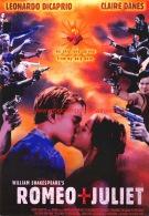 Romeo + Juliet Leonardo DiCapro Claire Danes - Manifesti Su Carta