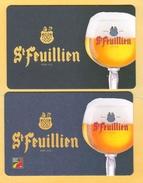 2 S/b Bière St Feuillien Différents (recto-verso) - Bierviltjes