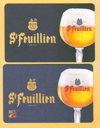 2 S/b Bière St Feuillien Différents (recto-verso) - Beer Mats