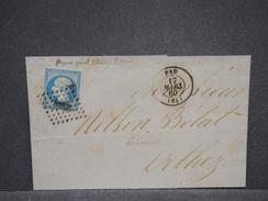FRANCE - Lettre De Pau Pour Orthez En 1860 , Affranchissement Napoléon , Voir Variété - L 6812 - Poststempel (Briefe)