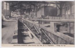 87 - Cpa Château Chervix - Mines D'or De La Fagassière - Triage De L'or - France