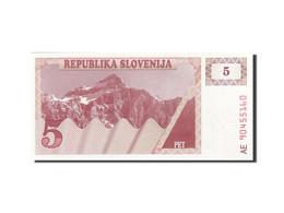 Slovénie, 5 (Tolarjev), 1990-1992, KM:3a, 1990, NEUF - Slovénie