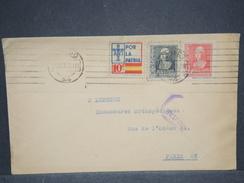 ESPAGNE - Enveloppe De Oviedo Pour Paris En 1936 Avec Censure Militaire , Affranchissement Plaisant - L 6819 - Marcas De Censura Nacional