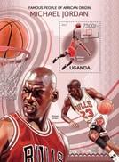UGANDA 2013 SHEET BASKETBALL PLAYERS BALONCESTO MICHAEL JORDAN SPORTS DEPORTES Ugn13109b - Ouganda (1962-...)