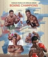 UGANDA 2013 SHEET BOXING CHAMPIONS BOXEO SPORTS DEPORTES Ugn13110a - Uganda (1962-...)