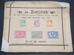 GRANDE BRETAGNE - Vignettes Du Jubilé Sur Document En 1901 - L 6824 - Briefe U. Dokumente