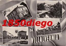 SALUTI DA VILLALVERNIA -MULTIVEDUTE  F/GRANDE VIAGGIATA  ANIMAZIONE - Alessandria